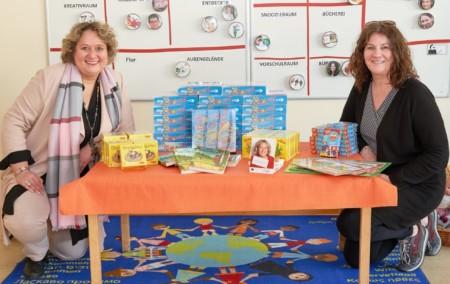 Kerstin Tack spendet 1000 Euro an AWO Kita Dunantstrasse Corona Zeit