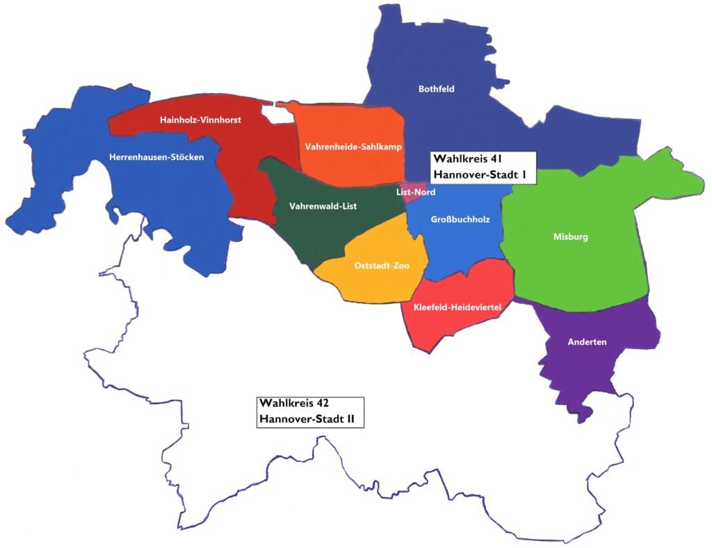 Karte Spd-ortsvereine Hannover Wk Stadt 1