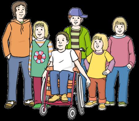 6 verschiedene Kinder