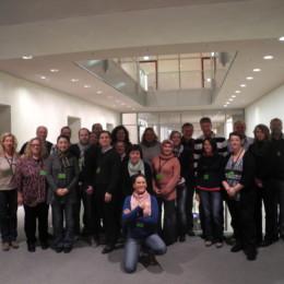 Kerstin Tack mit der Besuchergruppe im Deutschen Bundestag