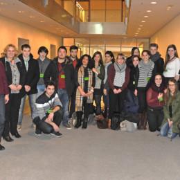 Schülerinnen und Schüler der Herschelschule mit Kerstin Tack