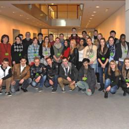 Gruppenfoto der Schulklasse mit Kerstin Tack