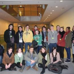Schulklasse der IGS mit Kerstin Tack im Deutschen Bundestag
