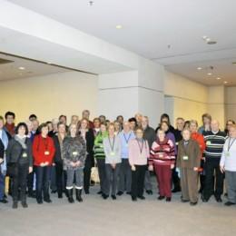 Gruppenfoto der Besuchergruppe im Bundestag