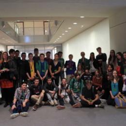Schülerinnen und Schüler der IGS List mit Kerstin Tack im Deutschen Bundestag