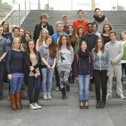 Gruppenfoto der Schulklasse im Paul-Löbe-Haus