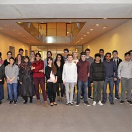 Gruppenfoto der Besuchergruppe mit Kerstin Tack im Deutschen Bundestag