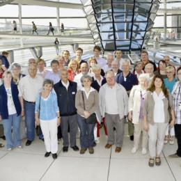 Gruppenfoto der Besuchergruppe im Deutschen Bundestag