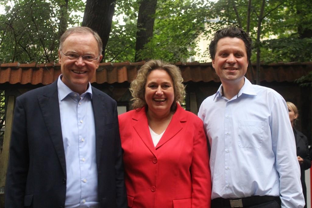 v.l.n.r.: Stephan Weil, Kerstin Tack und Alptekin Kirci